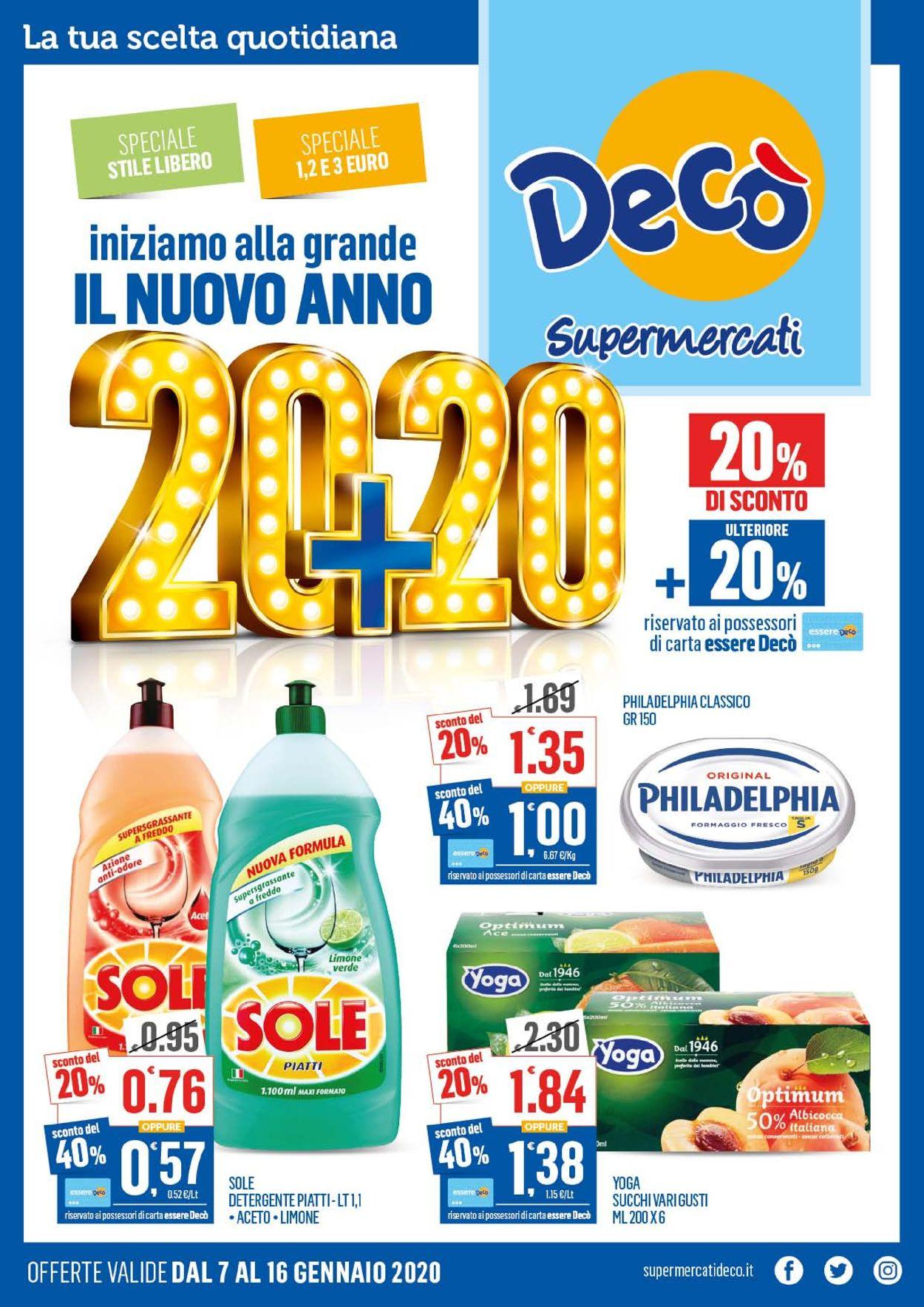 Volantino Deco - Offerte 07/01-16/01/2020