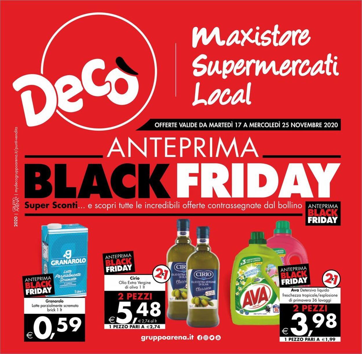 Volantino Deco - Black Friday 2020 - Offerte 17/11-25/11/2020