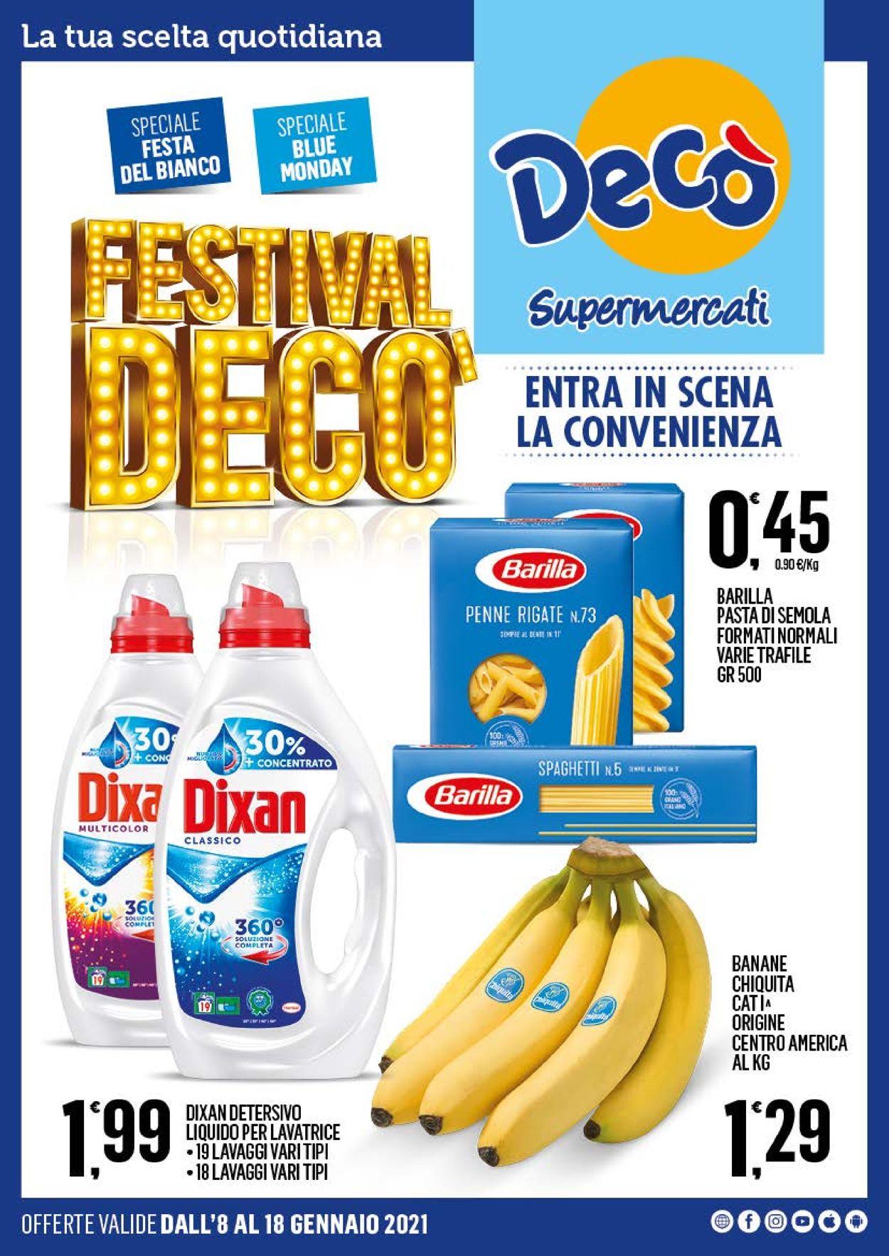 Volantino Deco Supermercati - Offerte 08/01-18/01/2021