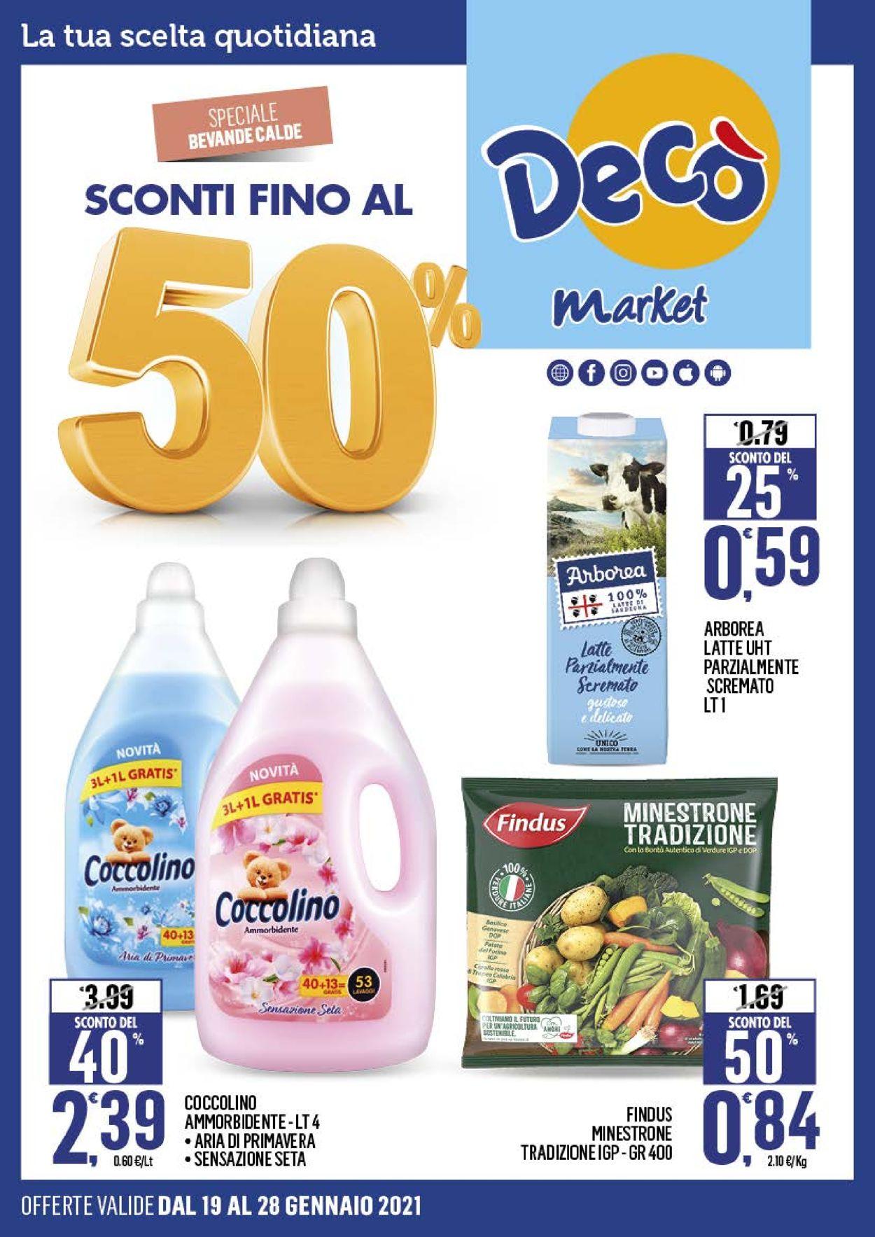 Volantino Deco Market - Offerte 19/01-28/01/2021