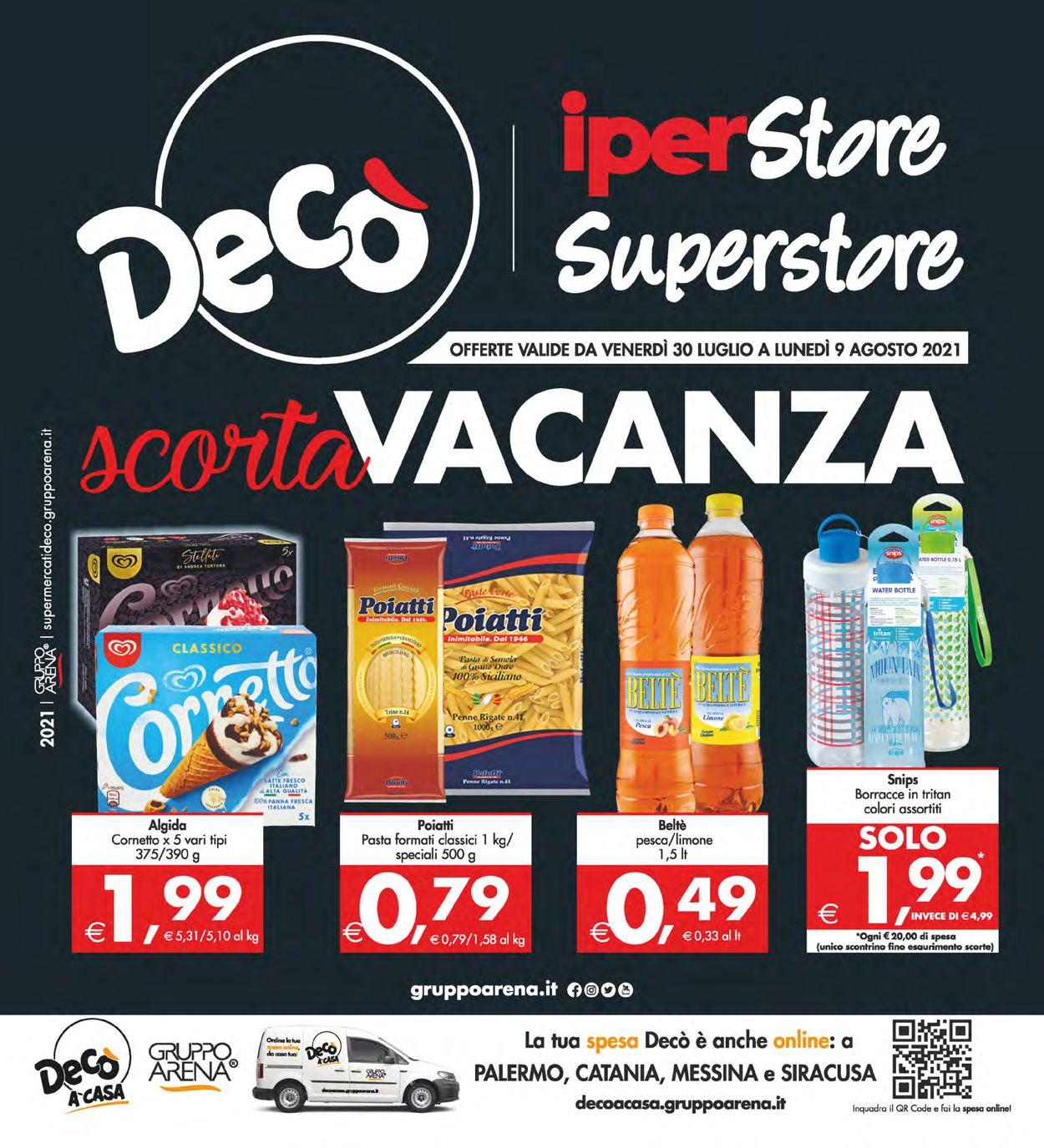 Volantino Deco - Offerte 30/07-09/08/2021
