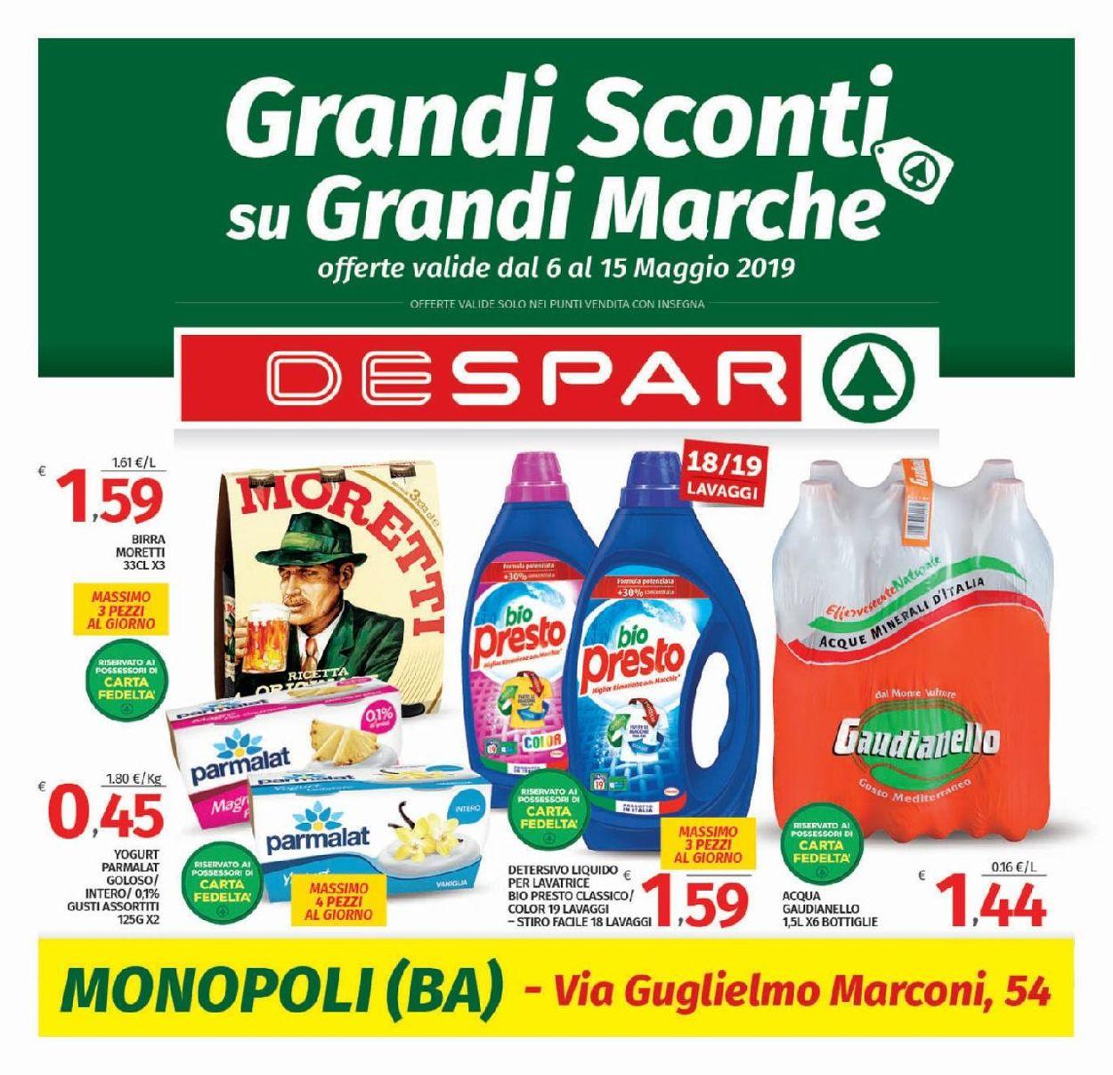 Volantino Despar - Offerte 06/05-15/05/2019