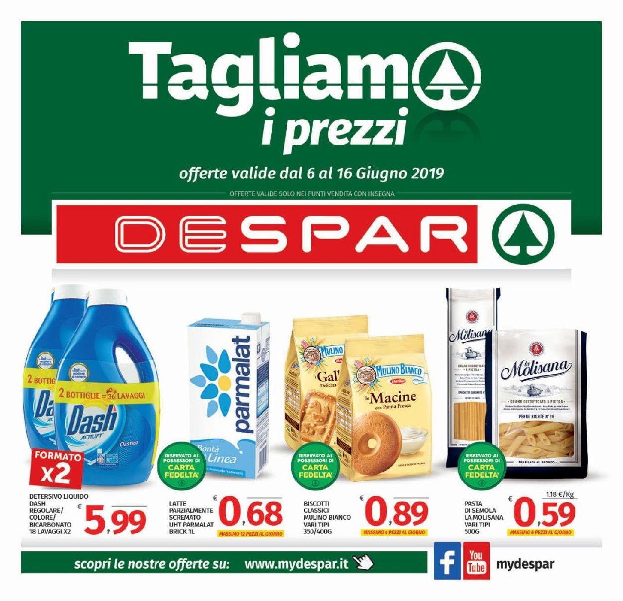 Volantino Despar - Offerte 06/06-16/06/2019