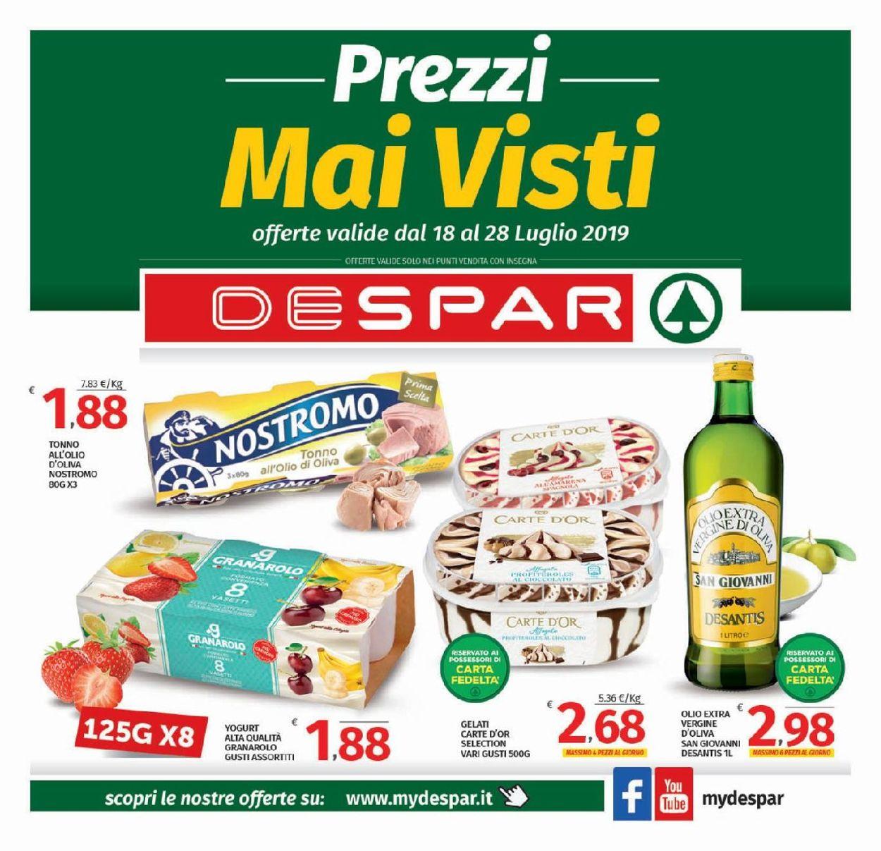Volantino Despar - Offerte 18/07-28/07/2019