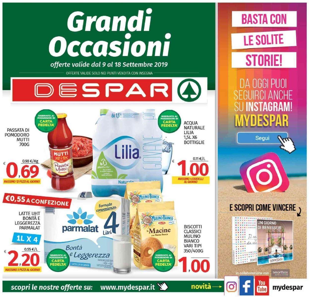 Volantino Despar - Offerte 09/09-18/09/2019