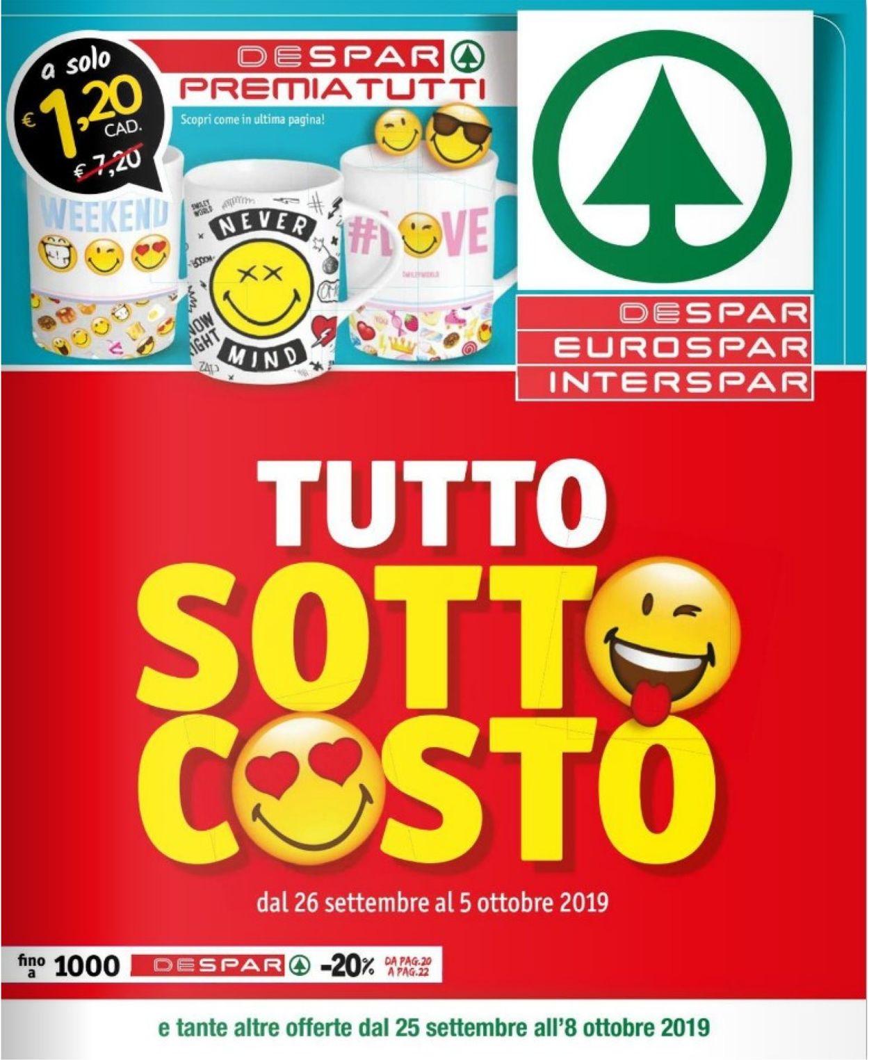 Volantino Despar - Offerte 25/09-08/10/2019