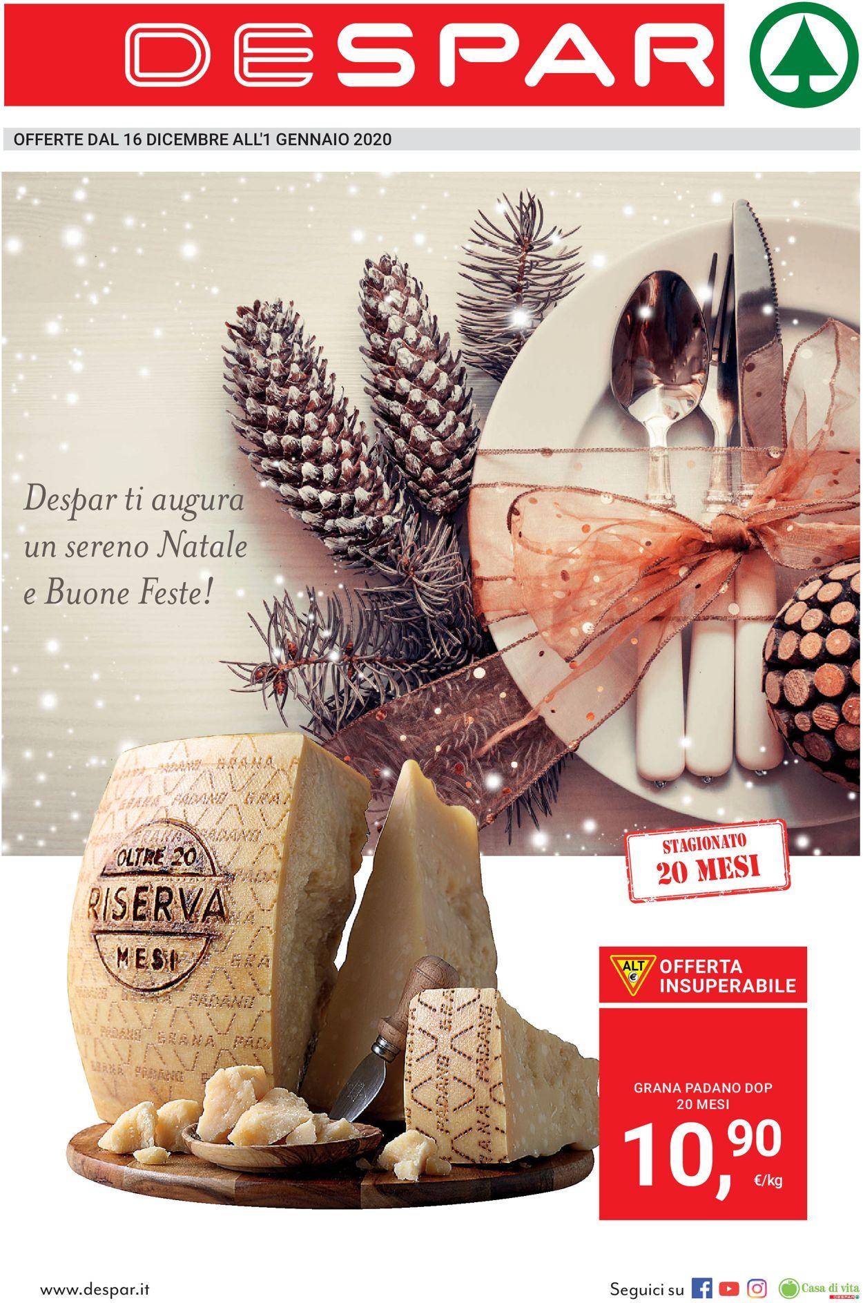 Volantino Il volantino natalizio di Despar - Offerte 16/12-01/01/2020