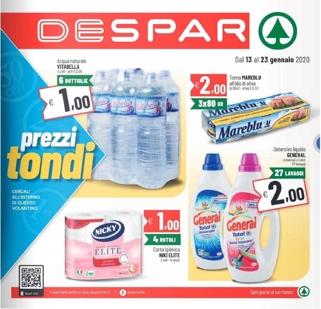 Volantino Despar - Offerte 13/01-23/01/2020