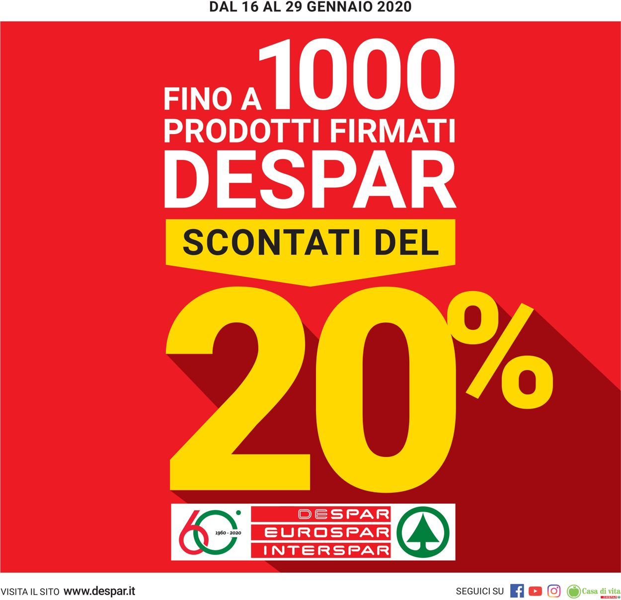 Volantino Despar - Offerte 16/01-29/01/2020