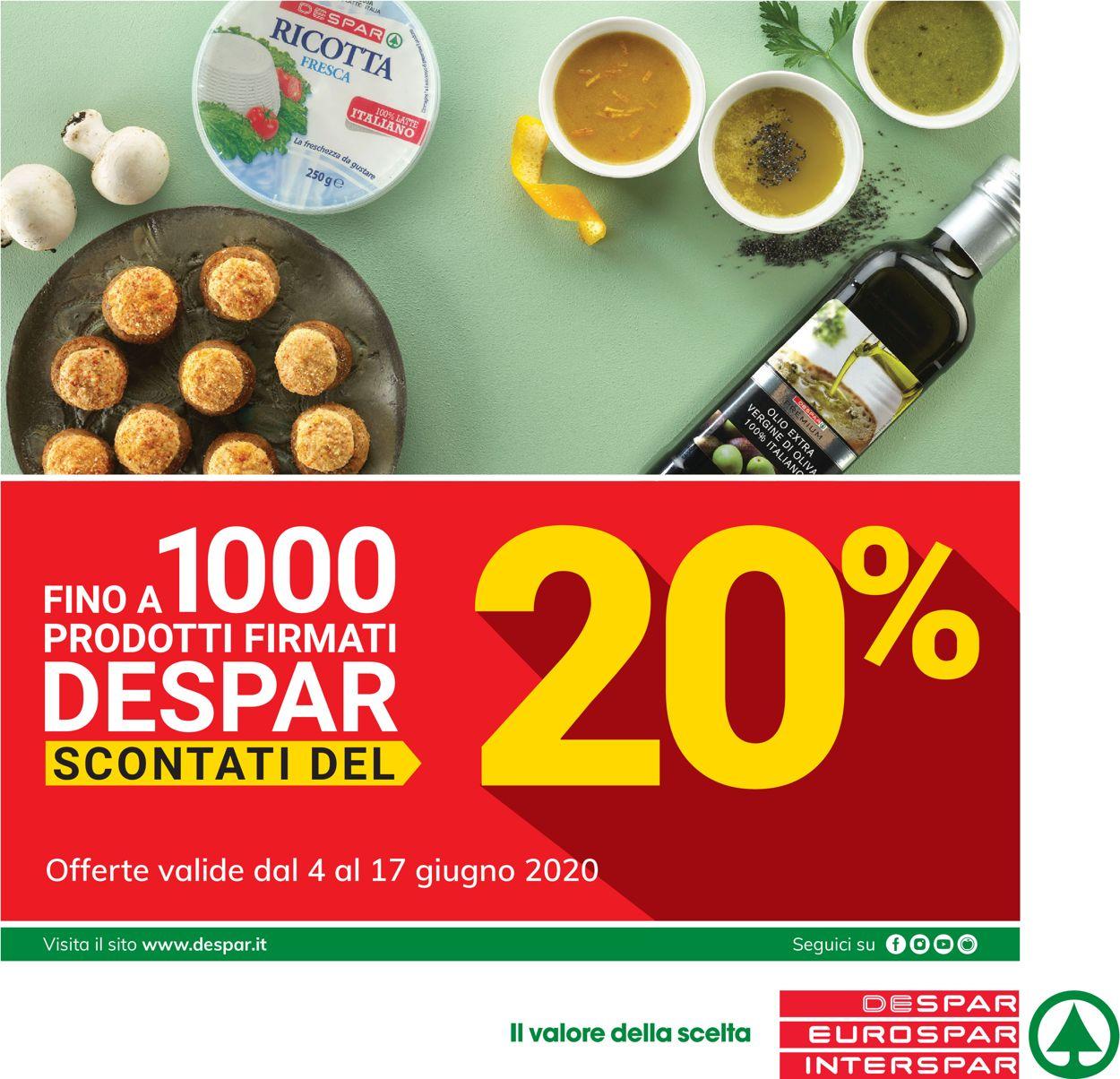 Volantino Despar - Offerte 04/06-17/06/2020