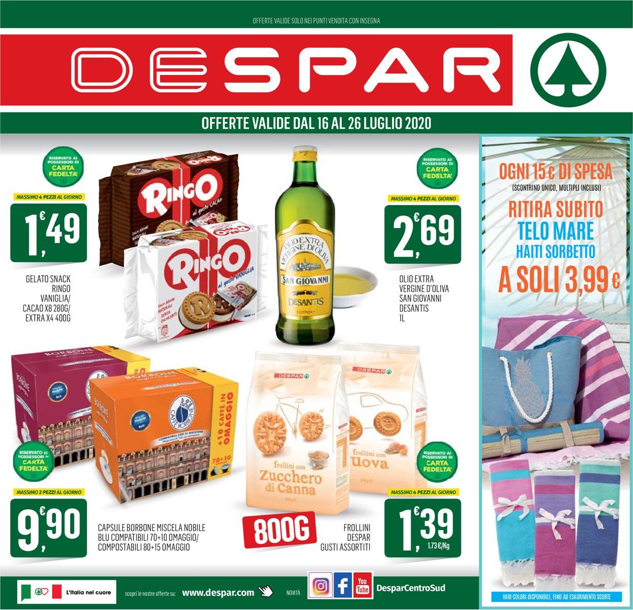 Volantino Despar - Offerte 16/07-26/07/2020