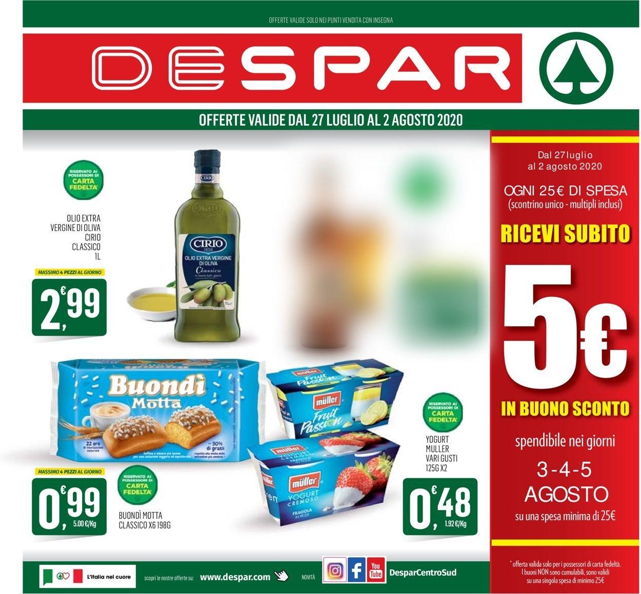 Volantino Despar - Offerte 27/07-02/08/2020