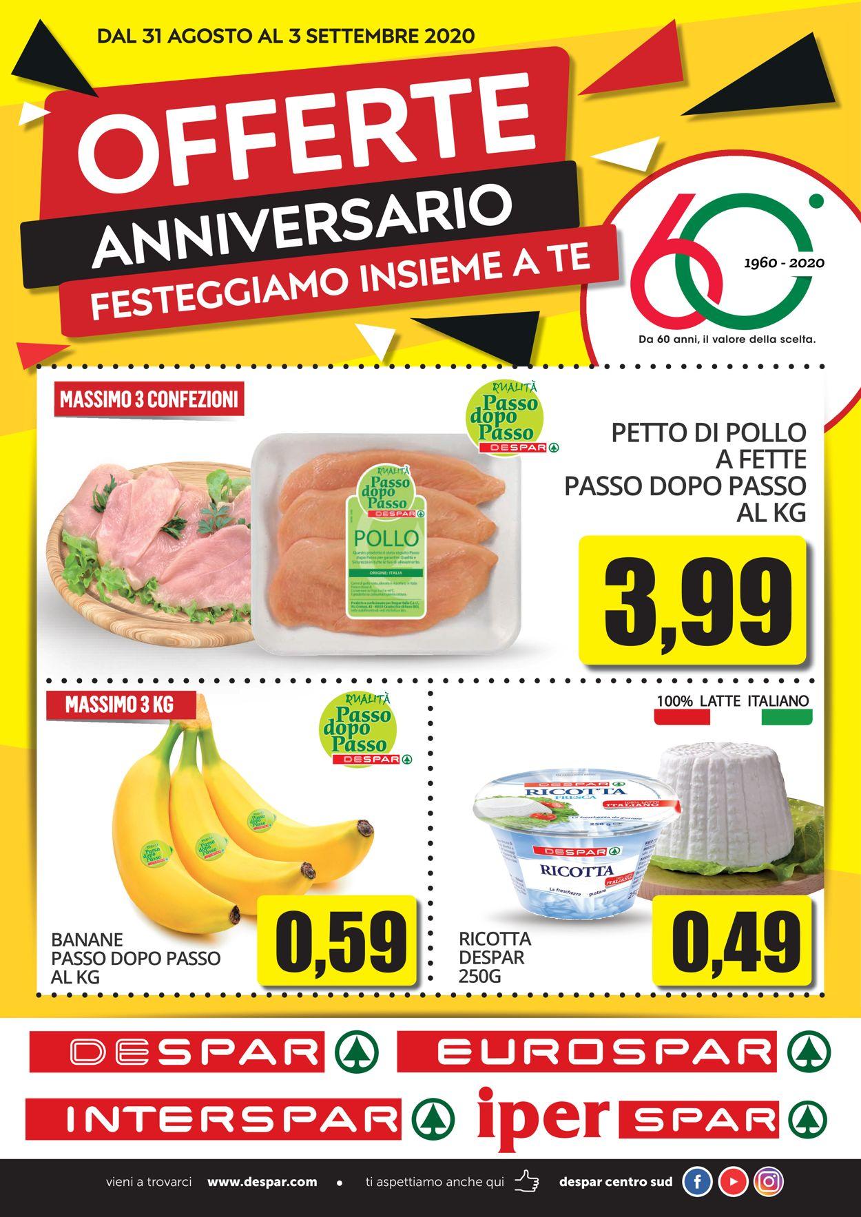 Volantino Despar - Offerte 30/08-03/09/2020