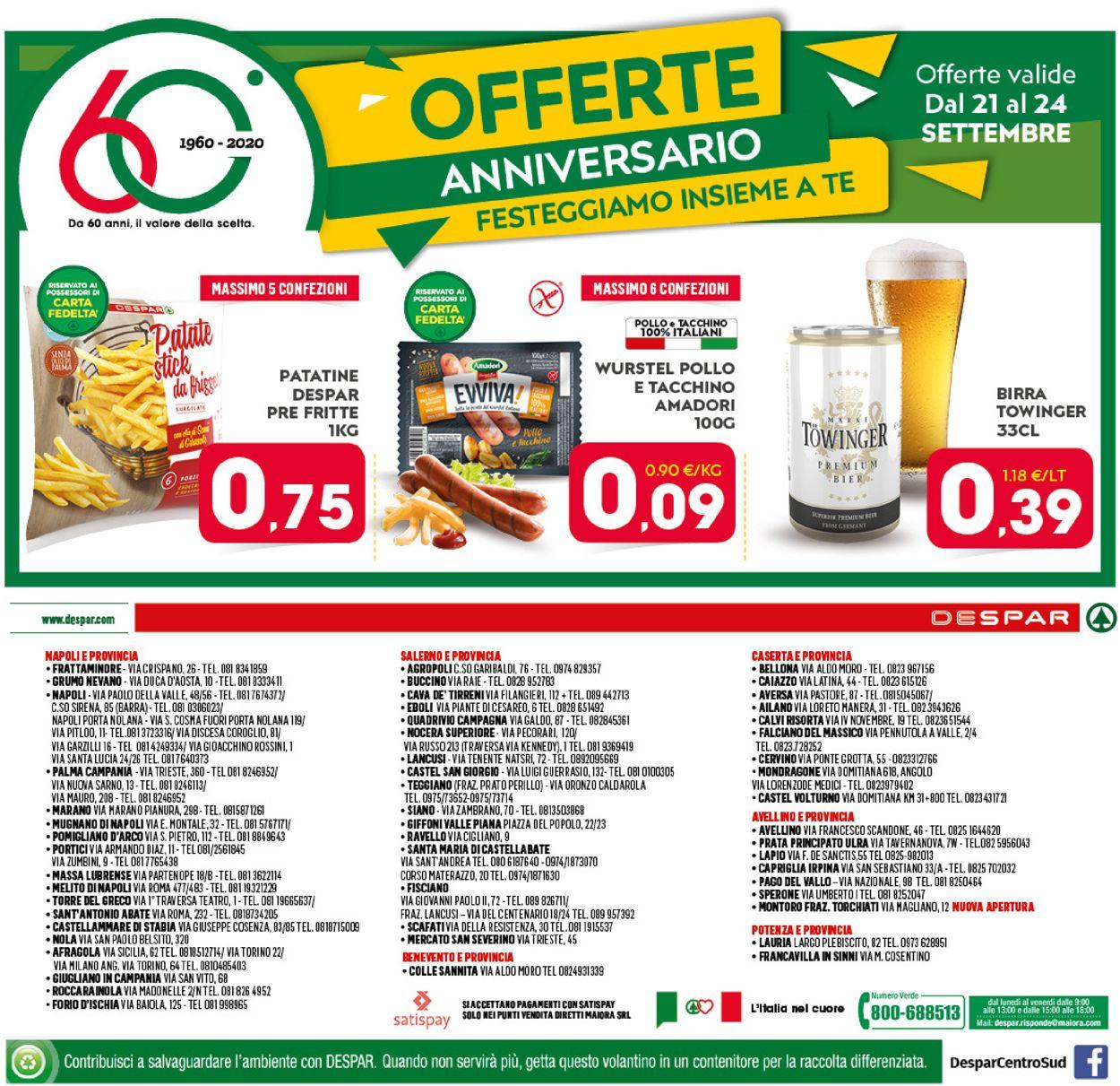 Volantino Despar - Offerte 16/09-27/09/2020 (Pagina 20)
