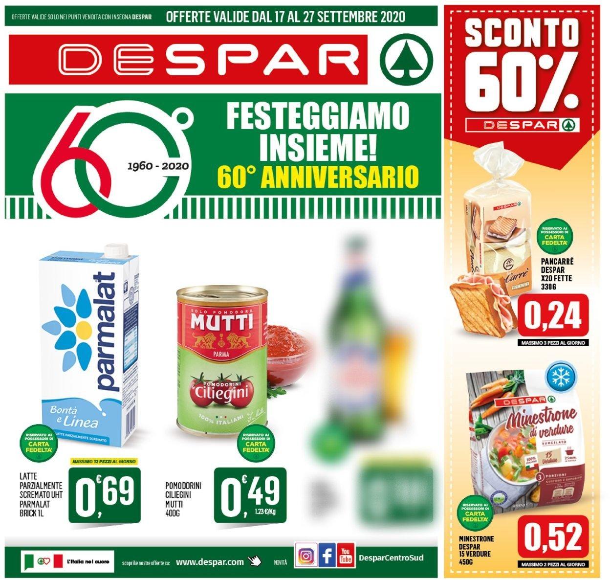 Volantino Despar - Offerte 16/09-27/09/2020