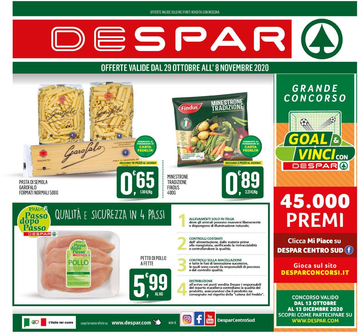 Volantino Despar - Offerte 28/10-08/11/2020