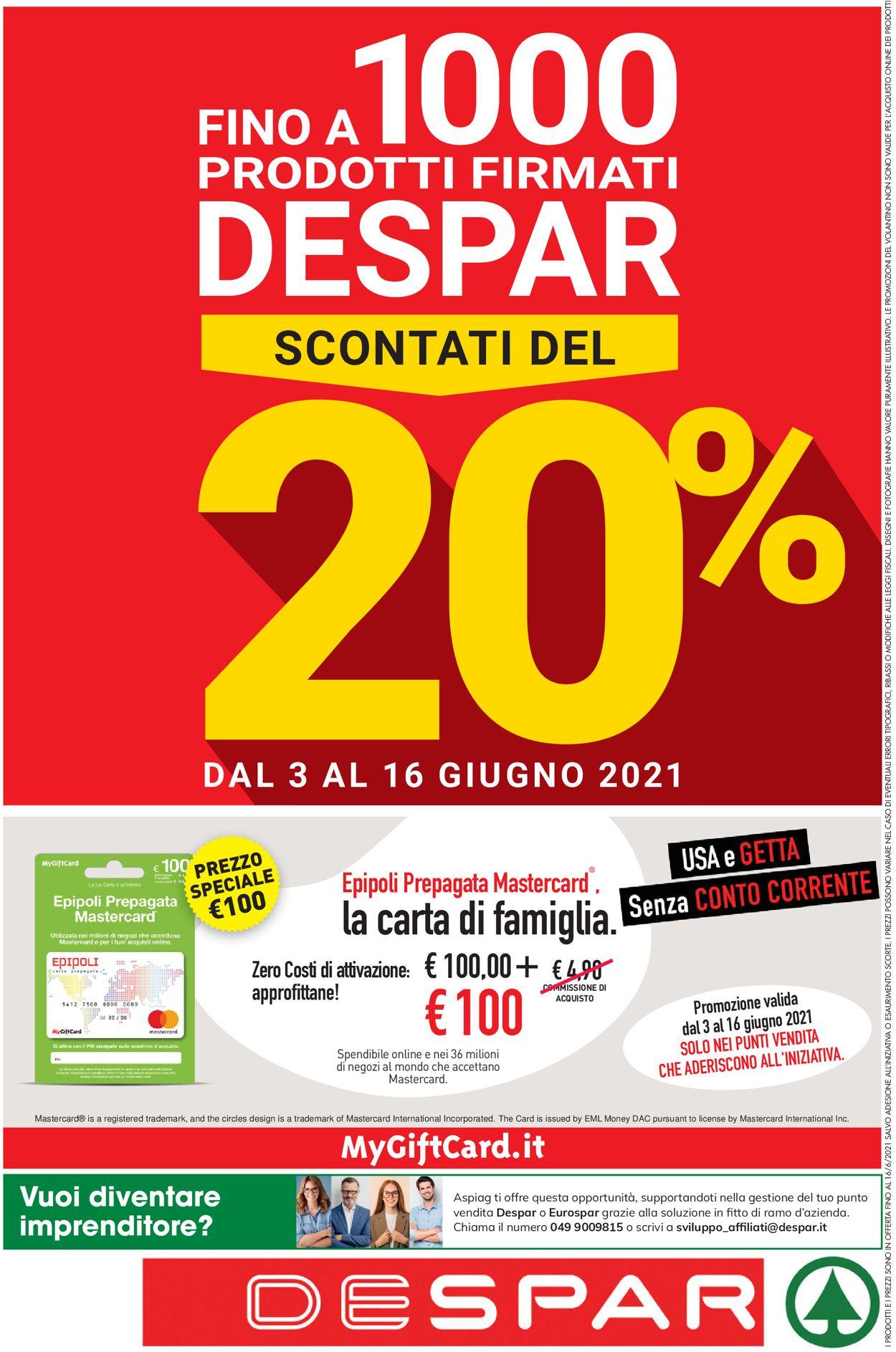 Volantino Despar - Offerte 03/06-16/06/2021 (Pagina 24)