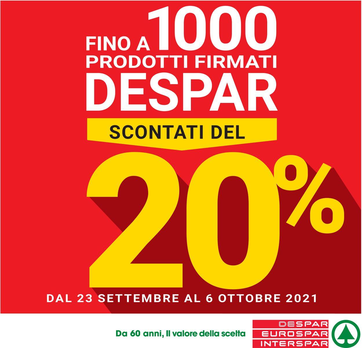 Volantino Despar - Offerte 23/09-06/10/2021