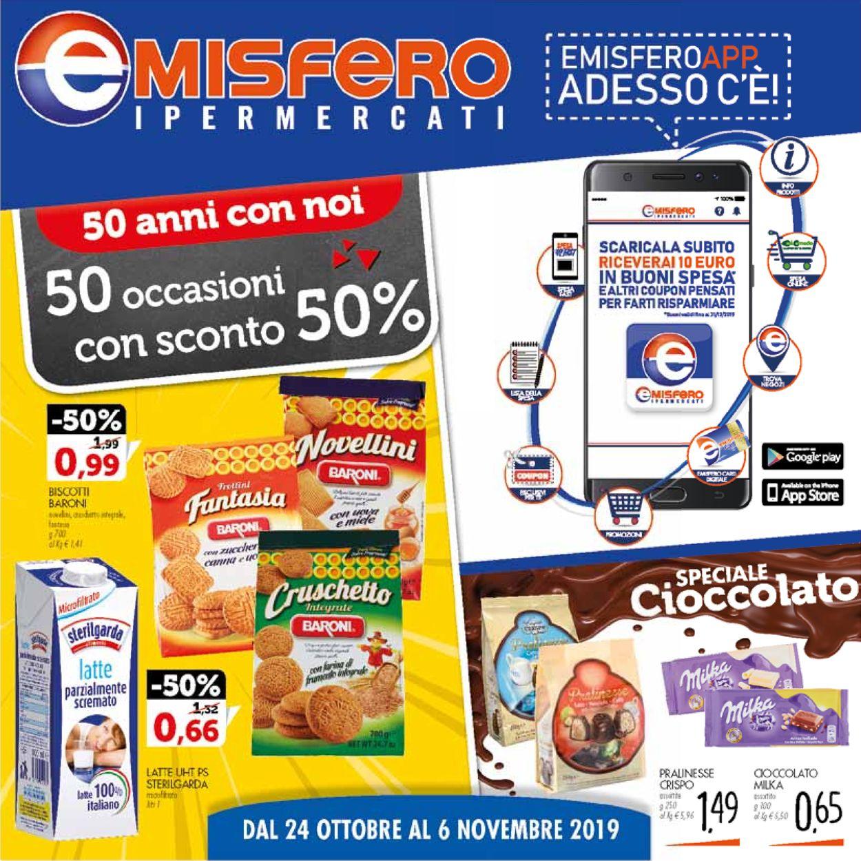 Volantino Emisfero - Offerte 24/10-06/11/2019