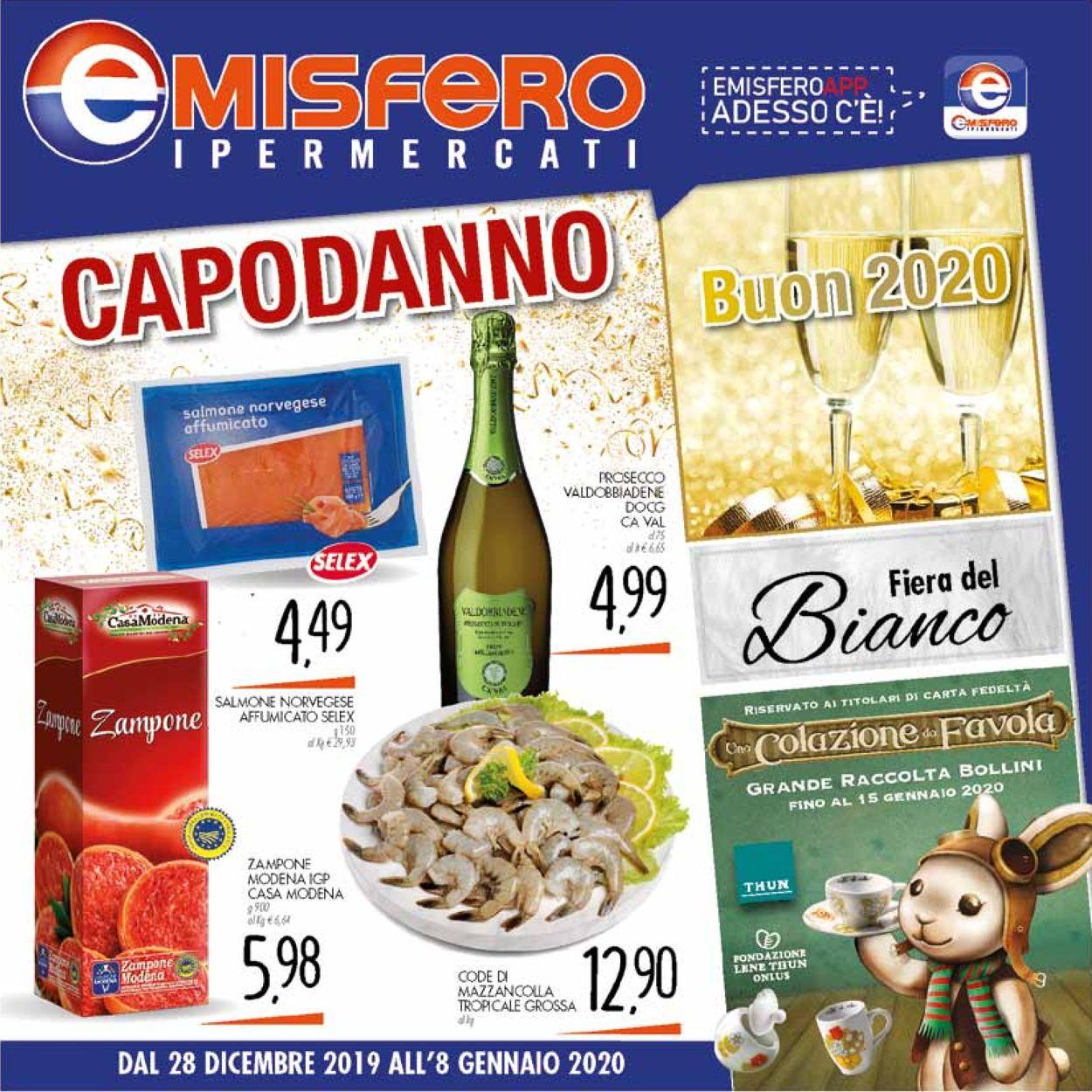 Volantino Emisfero - Offerte 28/12-08/01/2020