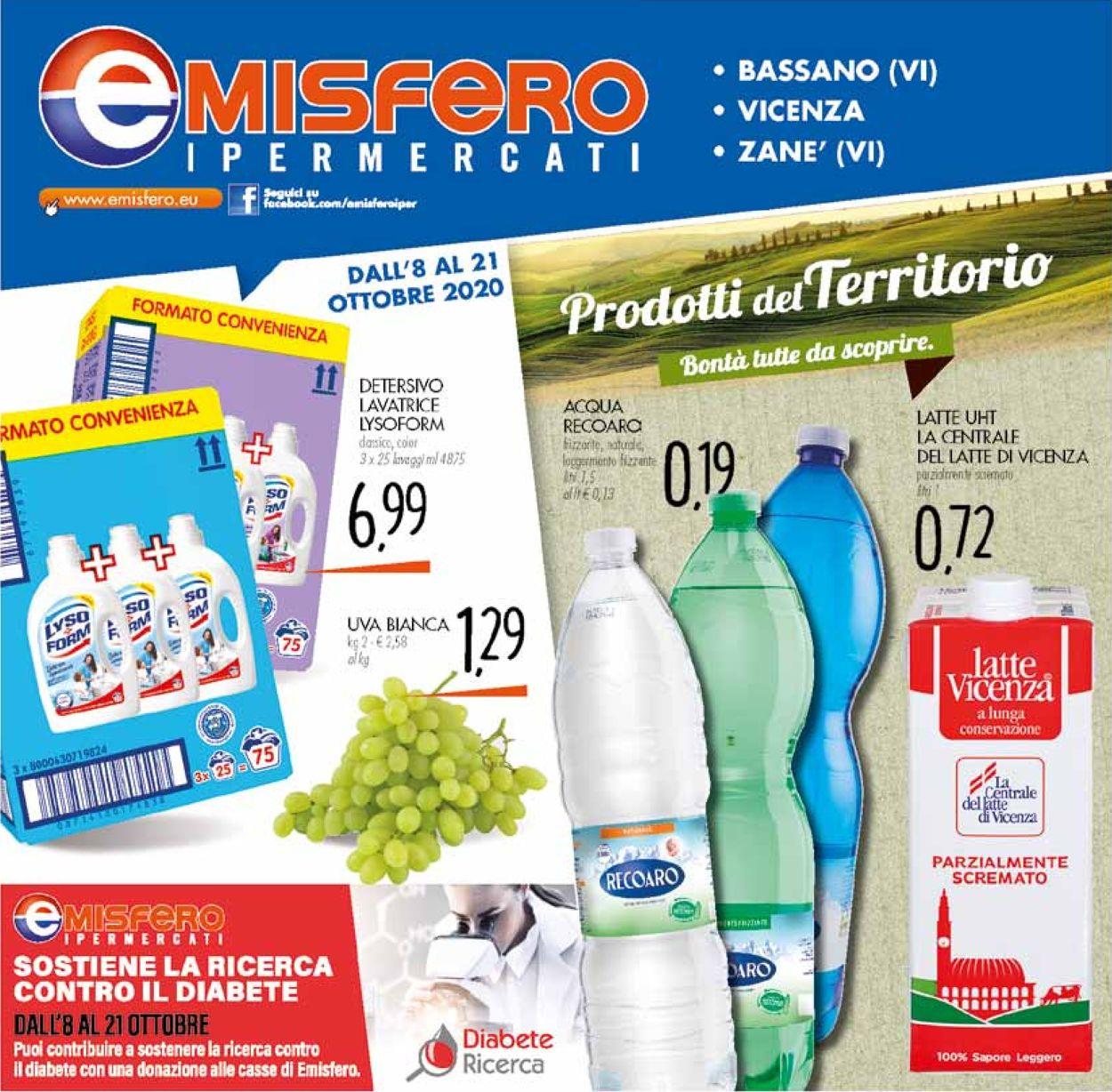 Volantino Emisfero - Offerte 08/10-21/10/2020