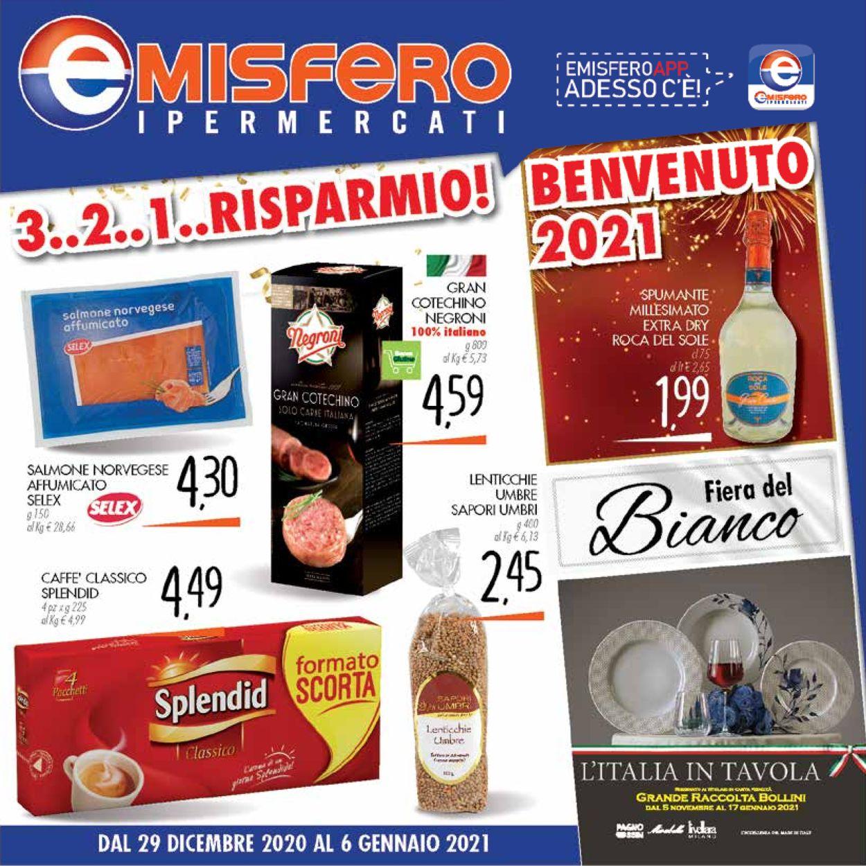 Volantino Emisfero -  Capodanno 2021 - Offerte 29/12-06/01/2021