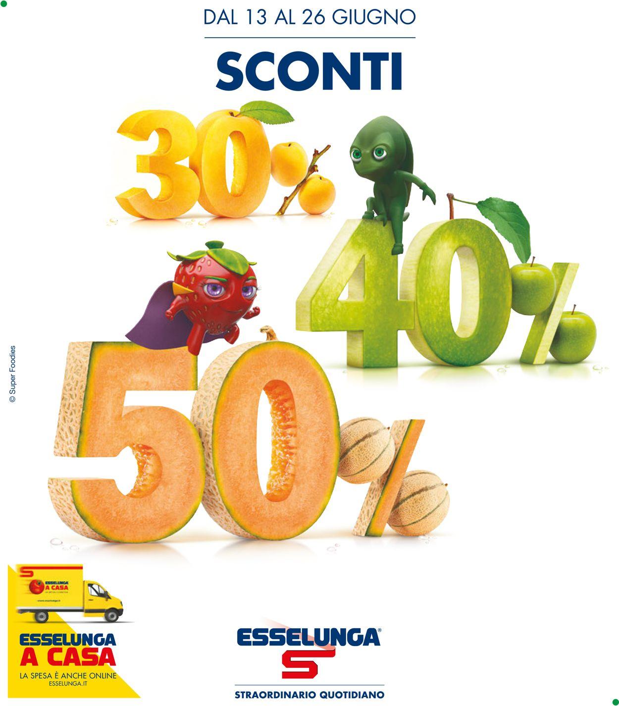 Volantino Esselunga - Offerte 13/06-26/06/2019