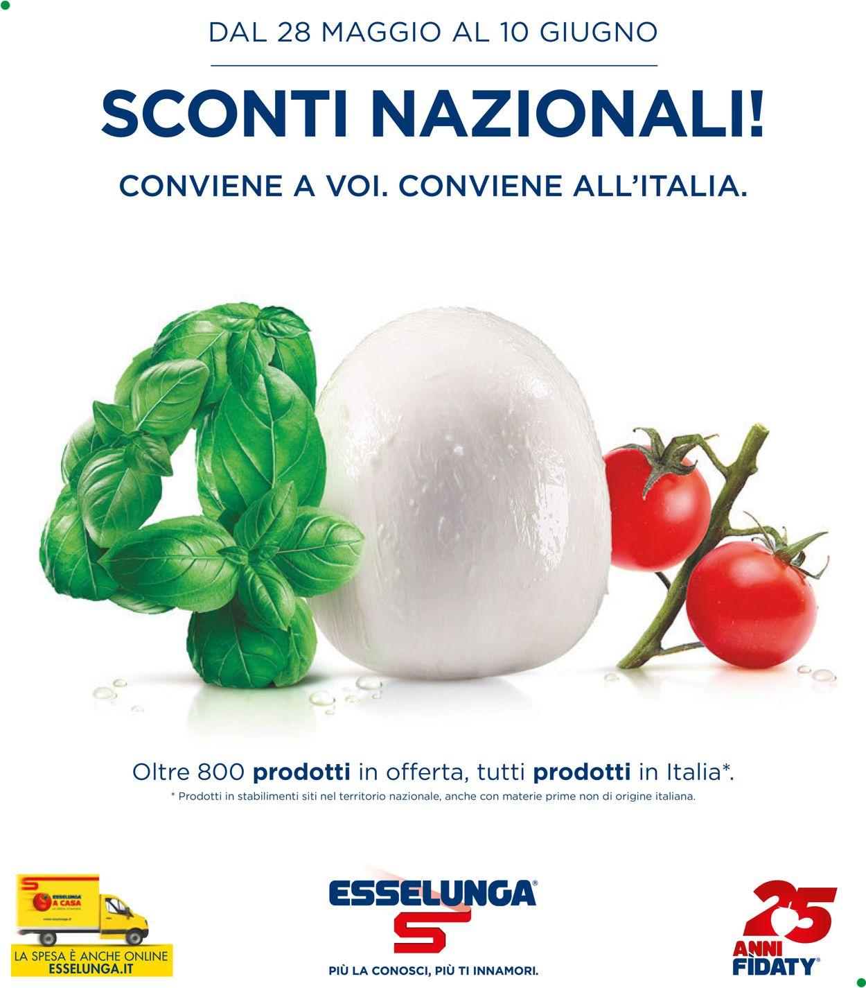 Volantino Esselunga - Offerte 28/05-10/06/2020