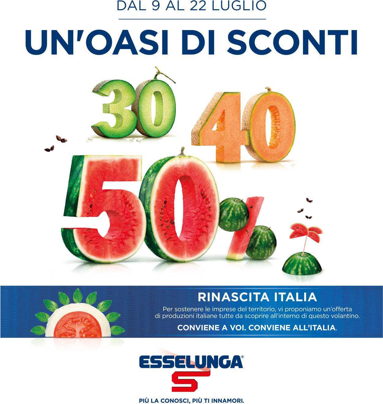 Volantino Esselunga - Offerte 09/07-22/07/2020