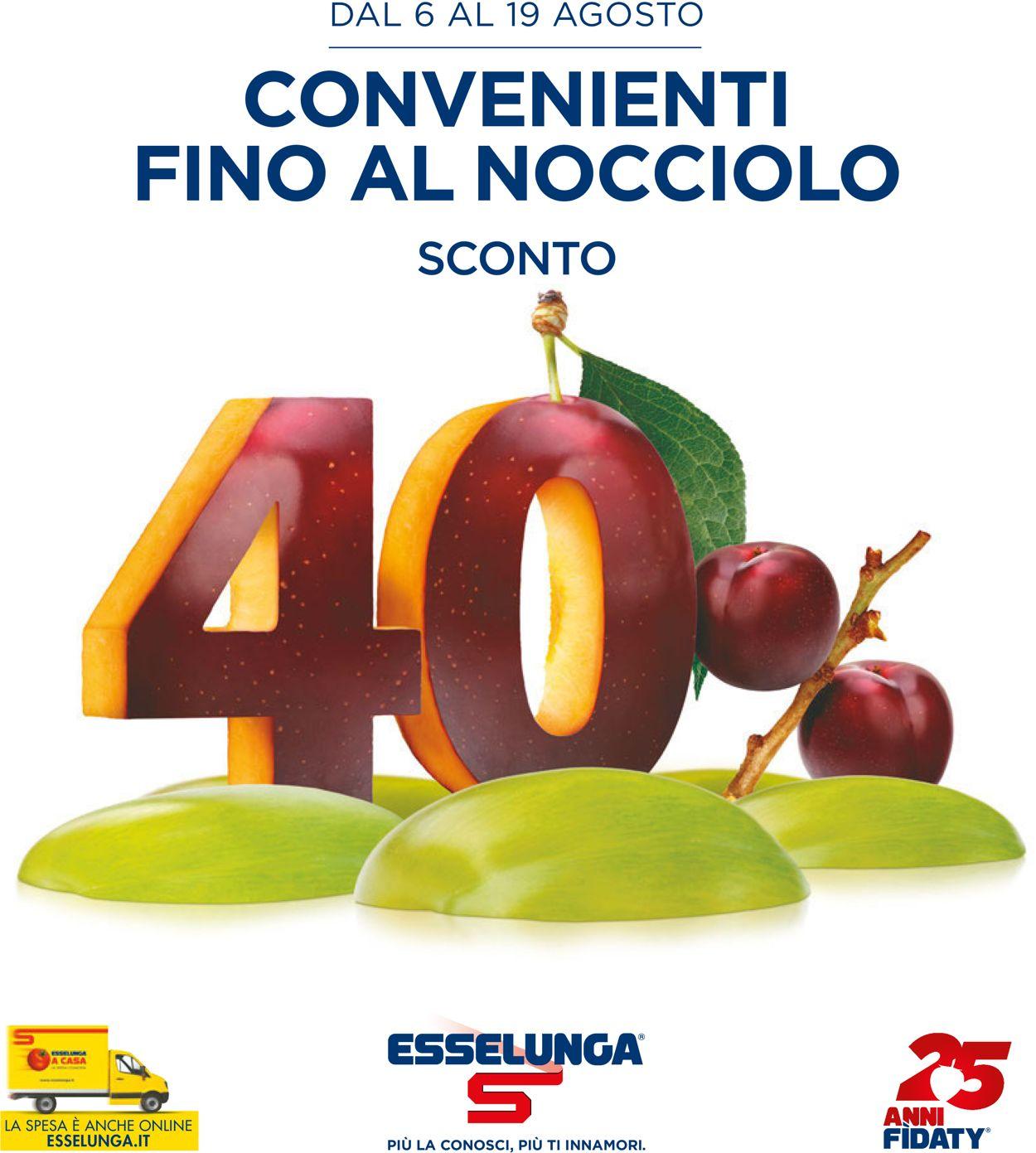 Volantino Esselunga - Offerte 06/08-19/08/2020