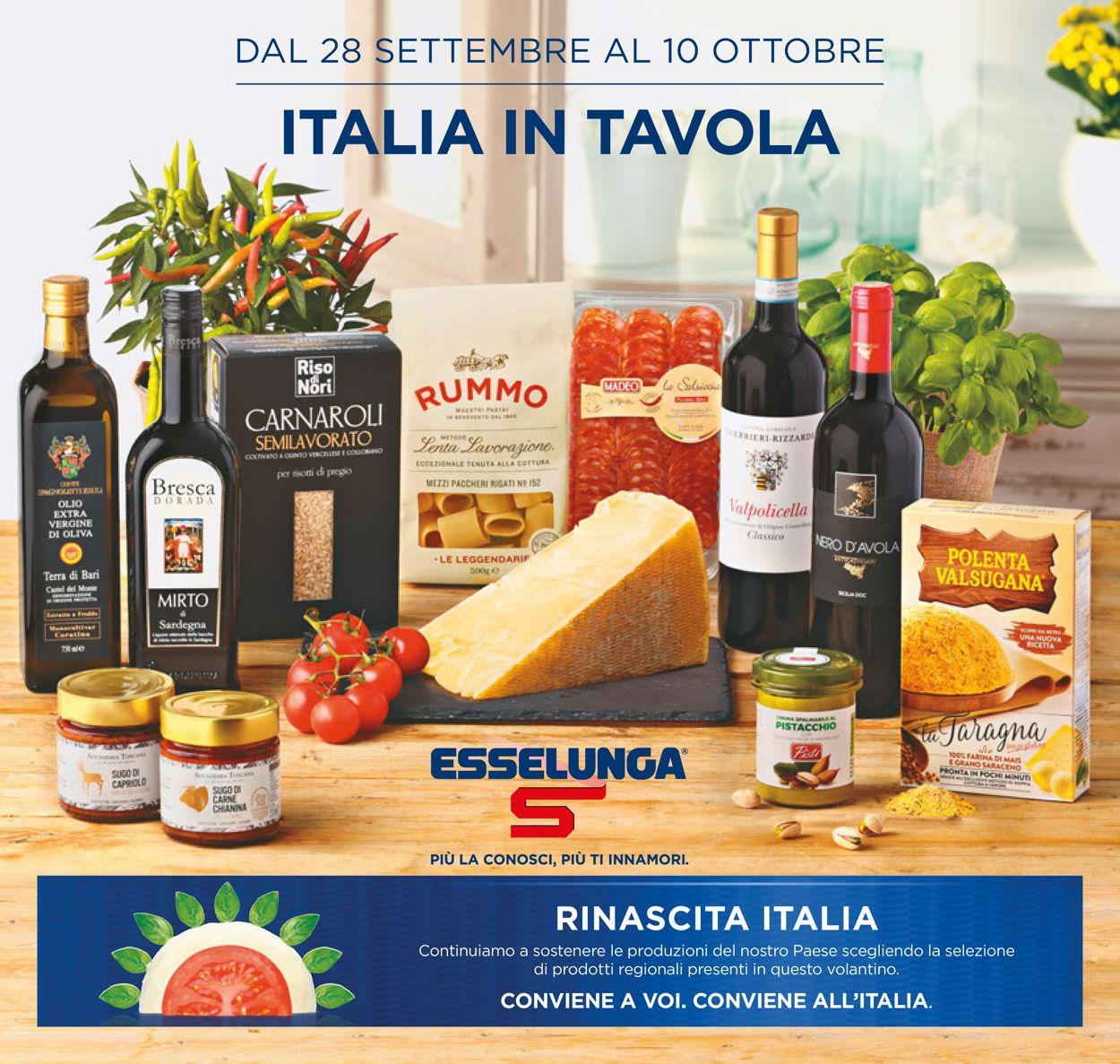 Volantino Esselunga - Offerte 28/09-10/10/2020