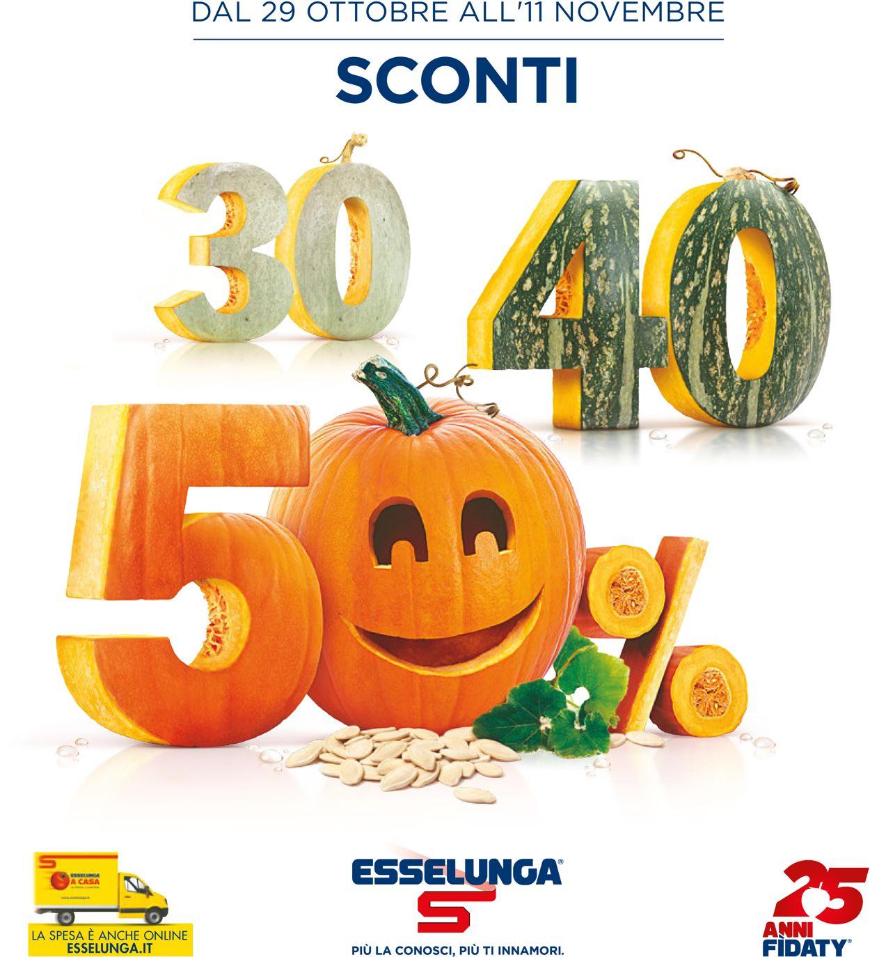 Volantino Esselunga - Offerte 29/10-11/11/2020