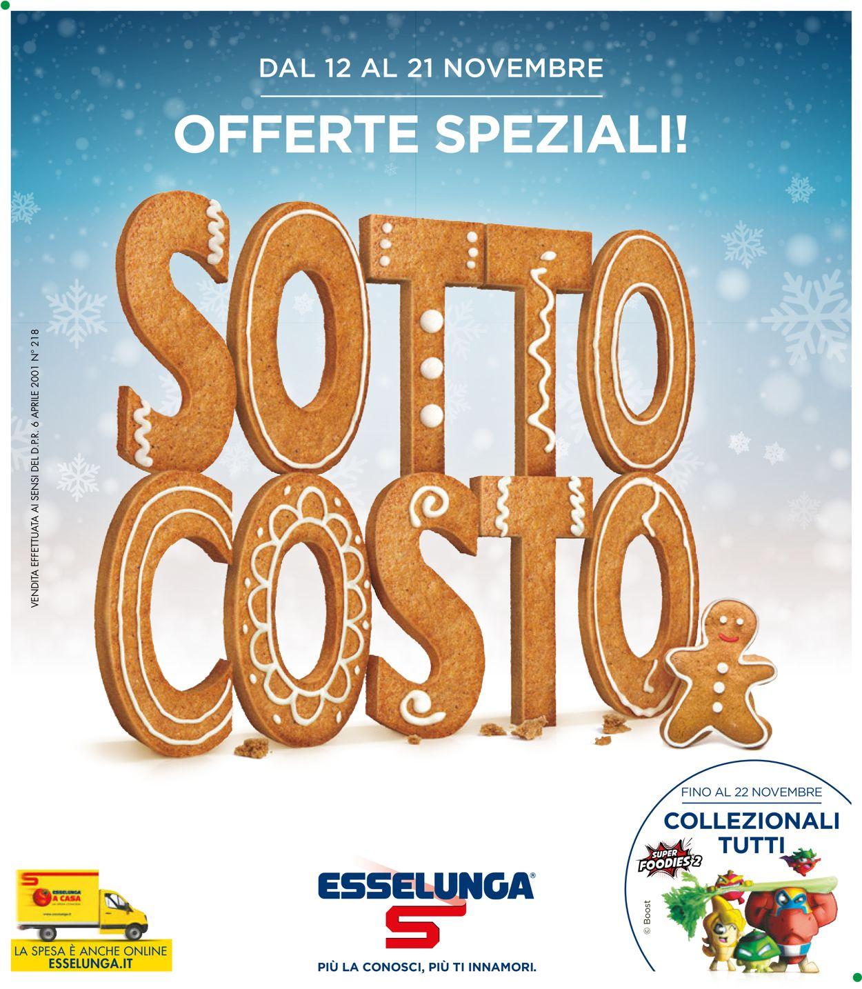 Volantino Esselunga - Offerte 12/11-21/11/2020