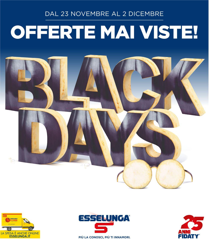 Volantino Esselunga Black Friday 2020 - Offerte 23/11-02/12/2020