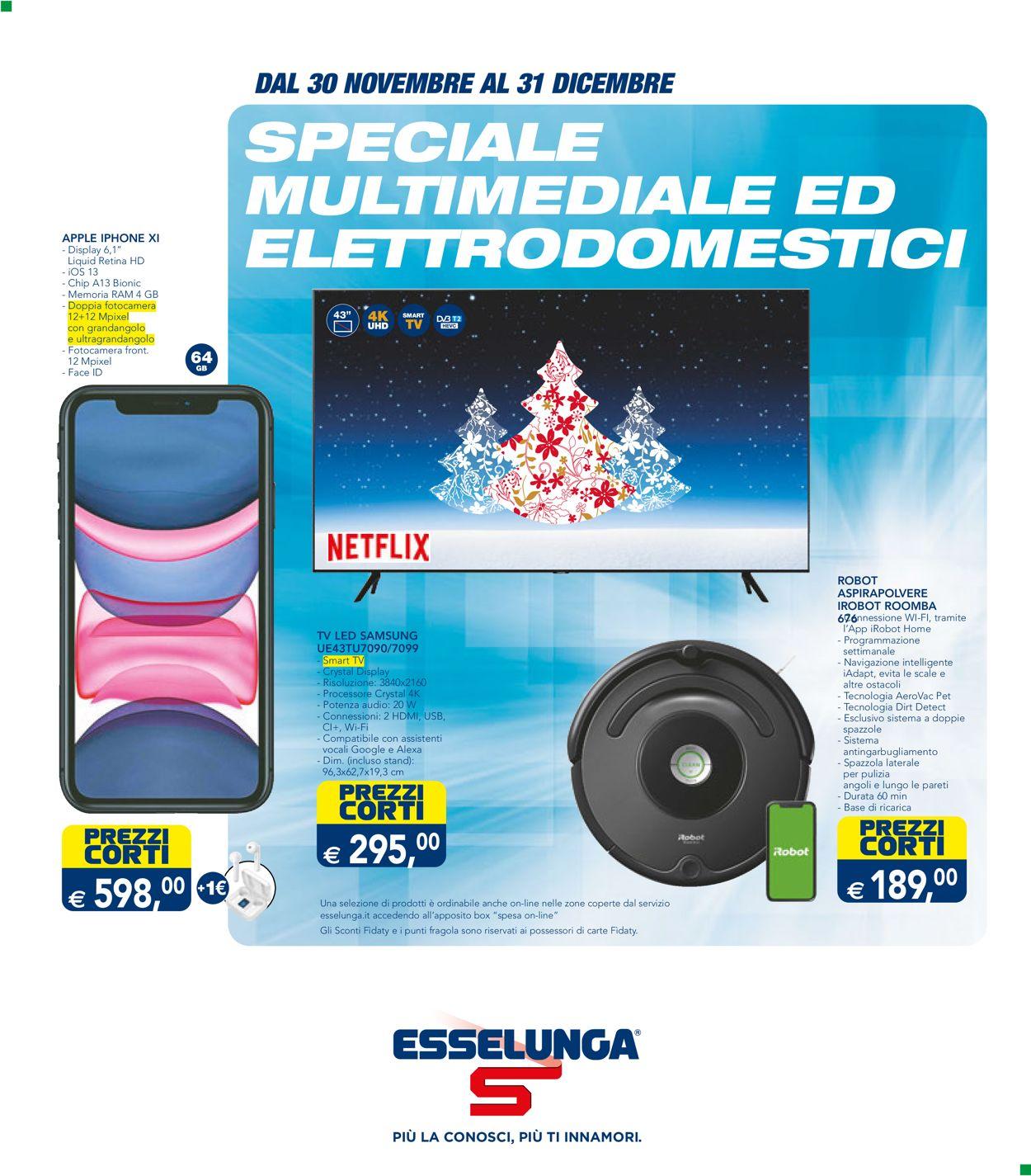 Volantino Esselunga - Natale 2020 - Offerte 30/11-31/12/2020