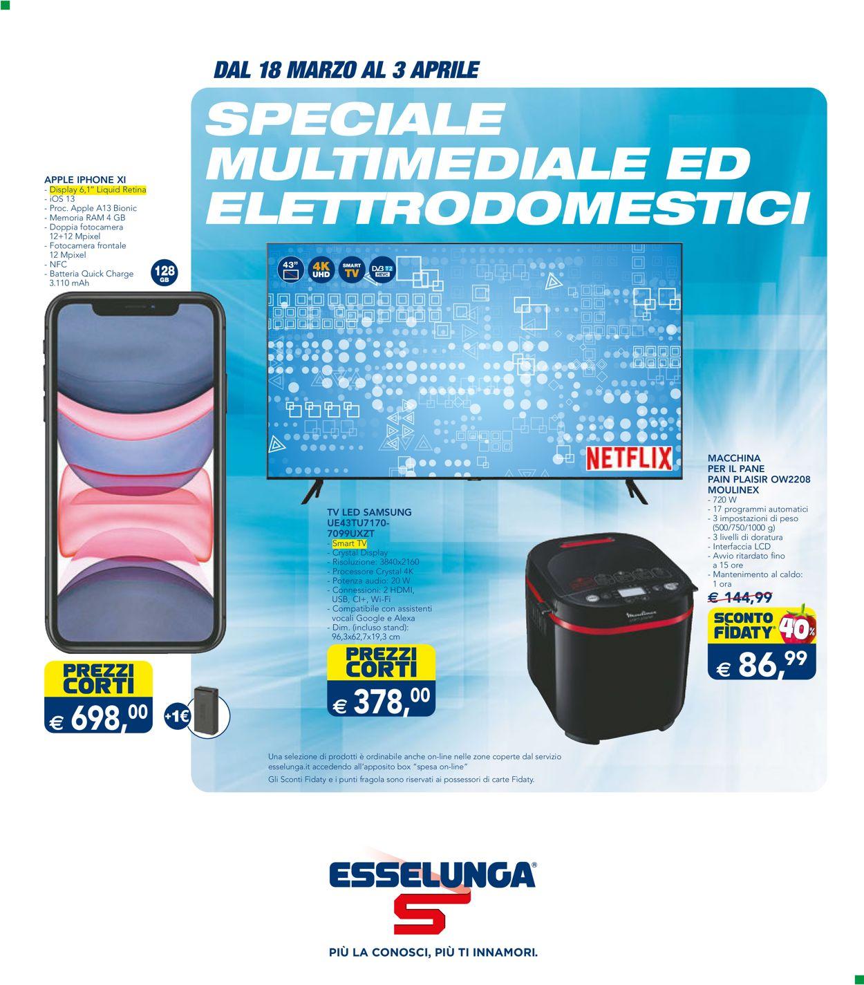 Volantino Esselunga - Offerte 18/03-03/04/2021