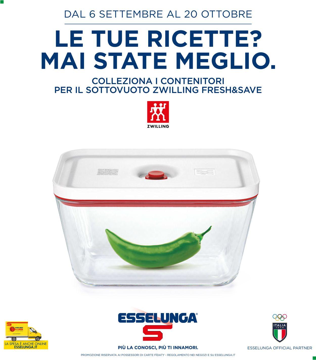 Volantino Esselunga - Offerte 06/09-20/10/2021