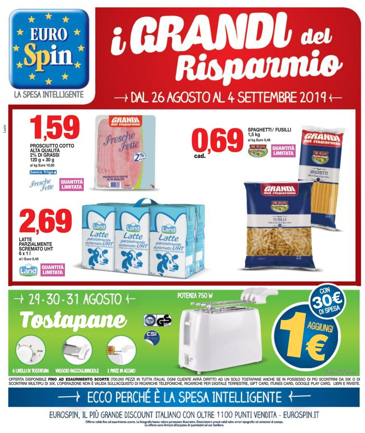 Volantino EURO Spin - Offerte 26/08-04/09/2019