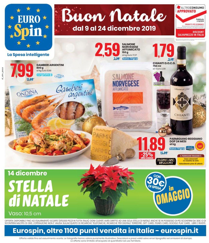 Volantino Il volantino natalizio di EURO Spin - Offerte 09/12-24/12/2019