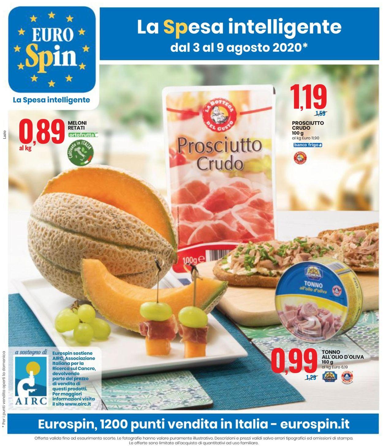 Volantino EURO Spin - Offerte 03/08-09/08/2020