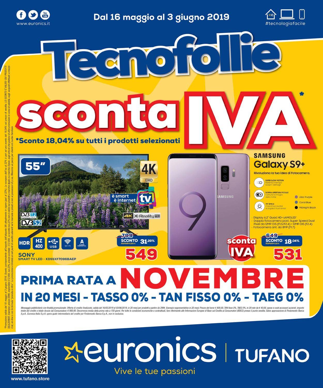 Volantino Euronics - Offerte 16/05-03/06/2019