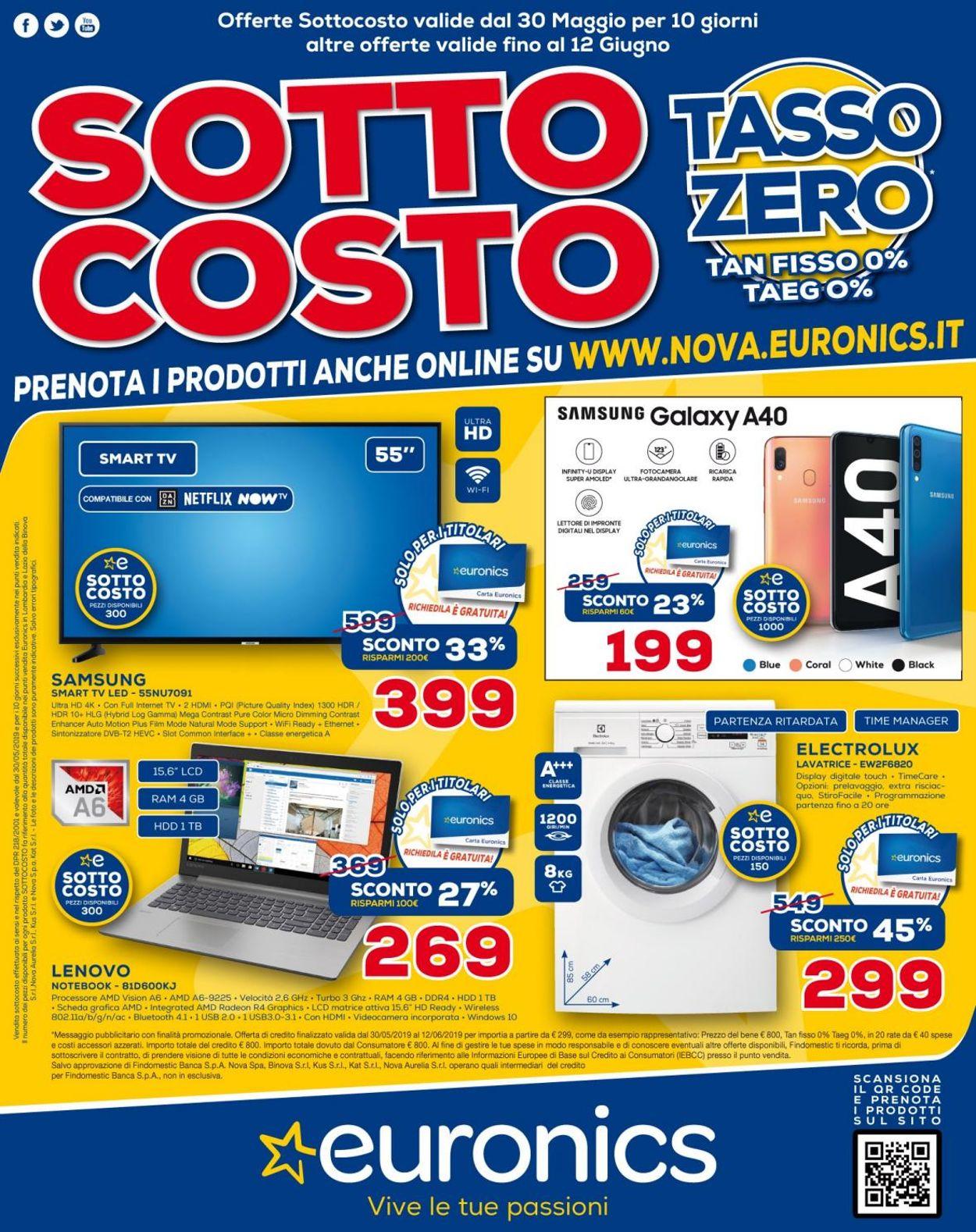Volantino Euronics - Offerte 30/05-12/06/2019