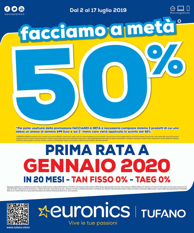 Volantino Euronics - Offerte 02/07-17/07/2019