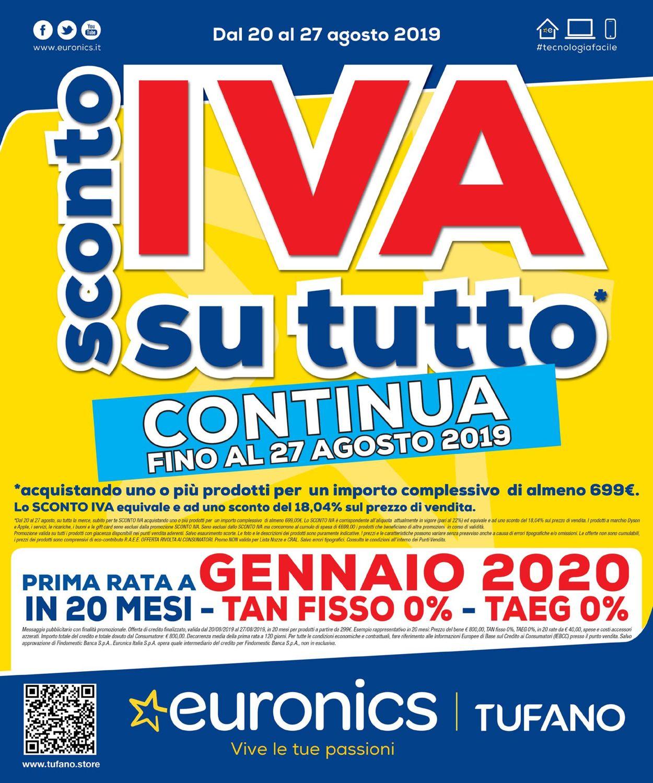 Volantino Euronics - Offerte 20/08-27/08/2019