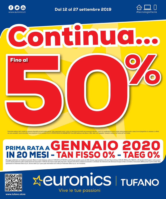 Volantino Euronics - Offerte 12/09-27/09/2019