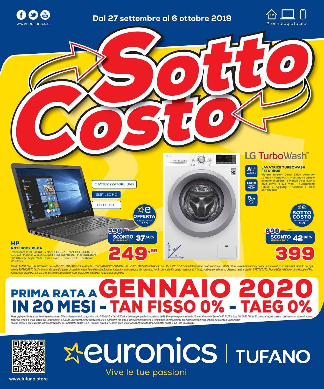 Volantino Euronics - Offerte 27/09-06/10/2019