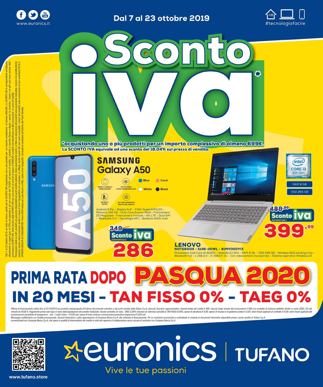 Volantino Euronics - Offerte 07/10-23/10/2019