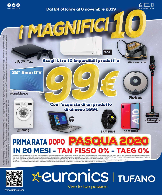 Volantino Euronics - Offerte 24/10-06/11/2019