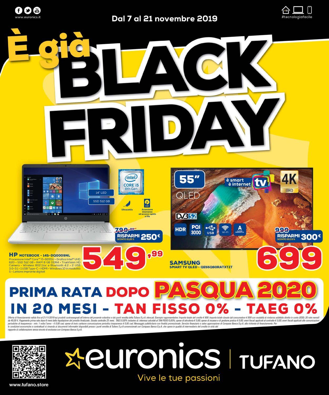 Volantino Euronics - BLACK FRIDAY 2019 - Offerte 07/11-21/11/2019