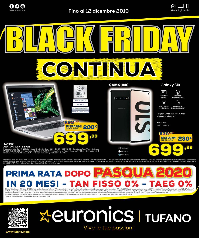 Volantino Euronics - BLACK FRIDAY 2019! - Offerte 03/12-12/12/2019